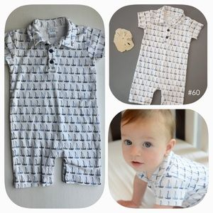 Feather Baby Polo Sailboat Romper